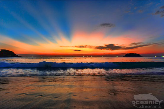kata beach sunset phuket