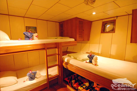 5 deluxe twin, plus 3 & 4 berth cabins