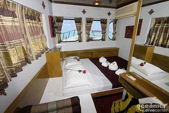 The Master Cabins are light and airy