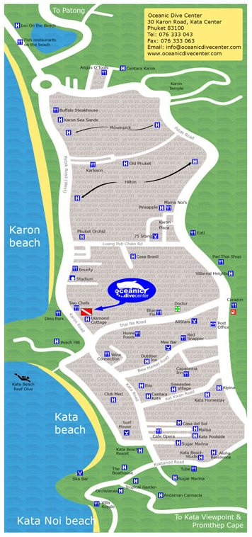 oceanic kata karon map phuket