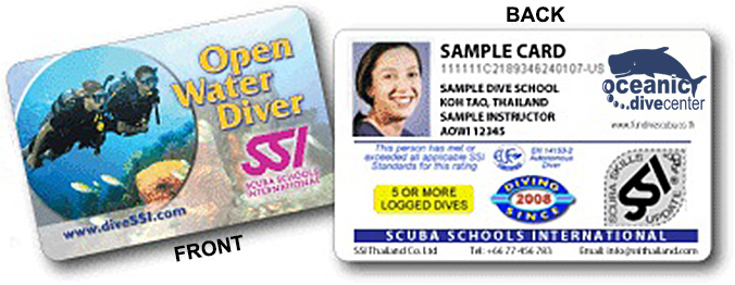 Get your SSI Open Water Certification cards at the end of your last ...