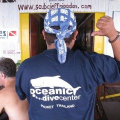 Oceanic shop merchandise, T-Shirts – Mask Straps – Beer Coolers