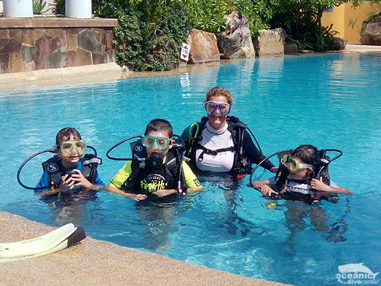 Kids Children Scuba Training Diving Phuket