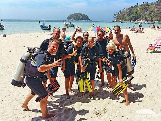 Kata beach Diving Phuket Shoredive